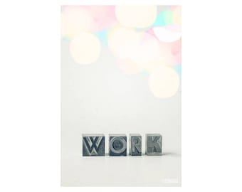 Work It Out; fine art photography, modern, wall art, office art, student art, loft art, wall decor, letterpress art, colorful, by F2images
