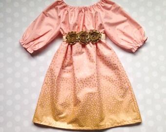 Girls Easter Dress - Girls Gold Dress - Easter Dresses for Girls - Baby Girl Easter - Girls Easter Outfit - Baby Girl Dress - Fall Dress
