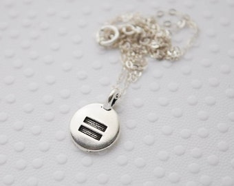 equality necklace | equal rights jewelry | gay rights | LGBTQIA+ | gay marriage | feminist activist | pride necklace | gift for her | dainty