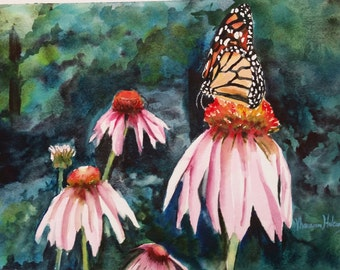 Monarch in the Coneflowers