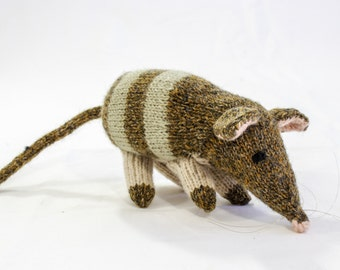 KNITTING PATTERN, Toy Knitting Pattern, Australian Bandicoot, Wildlife Toy, Soft Toy, Knitted Softie Pattern, PDF, Instant Download