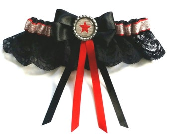 Captain America: Bucky Barnes The Winter Soldier Satin/Satin & lace Garter/Garter Set