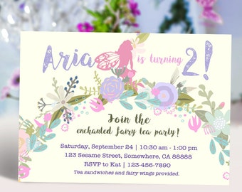 Fairy Garden Party Girl Invitation DIY
