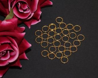 "10 pcs 12mm (1/2"") Gold Metal Rings for Bramaking Bra Strap Camisole Lingerie Making"