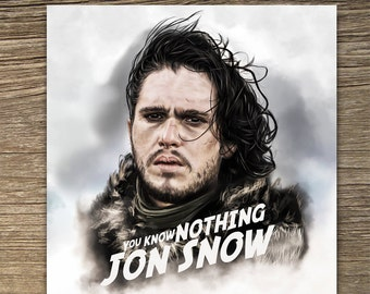 Jon Snow Game of Thrones Birthday Card