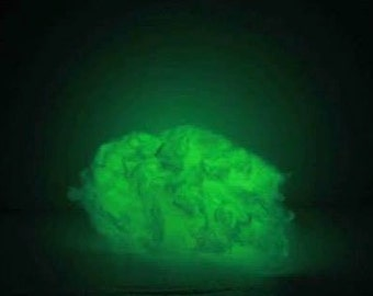 Glow in the Dark Spinning Fiber- choose your quantity-  non toxic - felt or spin or blend this fiber