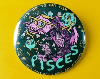 """Pisces 2.25"""" Button / Magnet"""