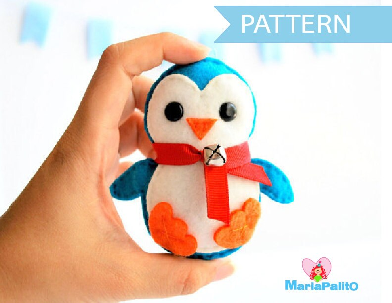 Penguin pattern felt penguin christmas ornament felt zoom pronofoot35fo Images