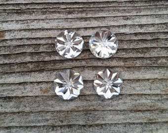 8mm Clear Starburst Resin Cabochon
