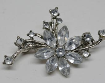 Charming Silver Tone Brooch
