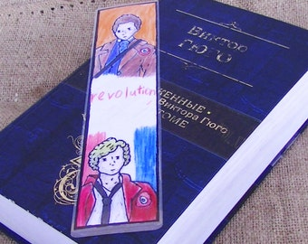 Book marks markers literature art revolutionary Victor Hugo french revolution flag les mis enjolras grantaire marius LES MISERABLES gift