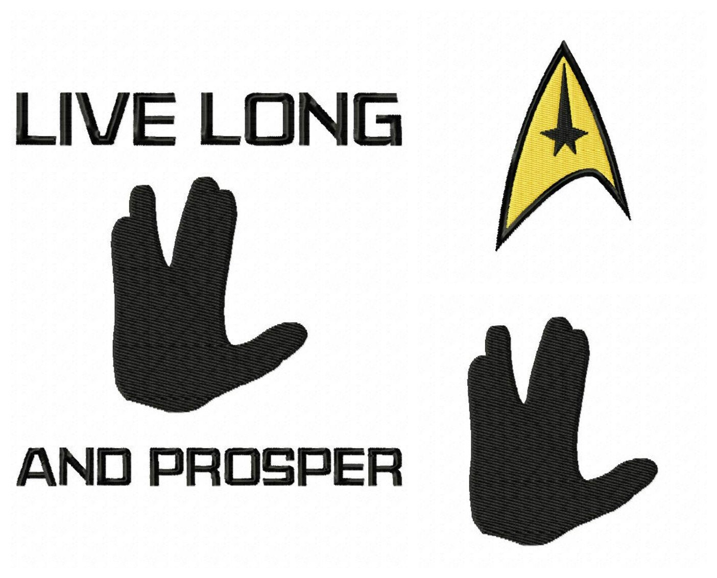 Instant download3 for 1 star trek inspired embroidery designs zoom buycottarizona