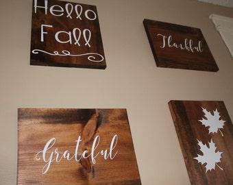 Hello Fall Wood Wall Decor Holiday Decor