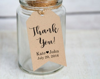 Thank You Tag - Thank You Label - Wedding Favor Tag - Shower - Wedding Favors - Christening - Bridal Shower Tags - Party Favor - MEDIUM