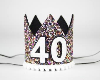Adult Birthday   40th Birthday Crown   40th Birthday hat   Adult Party Crown   Adult Birthday Crown   Adult Party Hat   Kaleidoscope