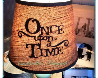 Once upon a time lamp shade fairytale princess disney kids once upon a time lamp shade fairytale princess disney kids shadow lamp shade happily ever after lamp shade mozeypictures Images