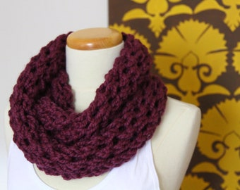 Lace knit infinity scarf - more colors