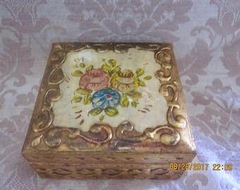 VintageFlorentine,Jewelry box, gold gilt box, Jewelry box, Made in Italy, Paris apartment,vintage box, Italian Florentine,Mothers Day
