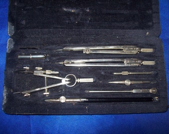 Vintage Boxed Drawing Instruments made by Eco Bra
