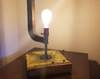 Edison Bulb Custom Lamp, C-Clamp Light, Industrial Style Lamp, Industrial C-Clamp Light