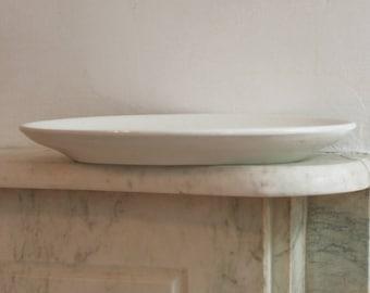 Antique Large Ironstone White Platter, Dish, Plate, Porcelain, International China, Trenton NJ