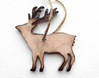Reindeer Ornament - Reindeer Christmas Ornament - Wood Reindeer Ornament - Rustic Reindeer Ornament - Wood Reindeer - Reindeer Decor