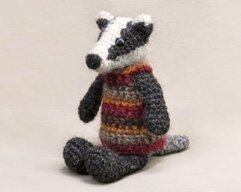 Crochet amigurumi badger pattern