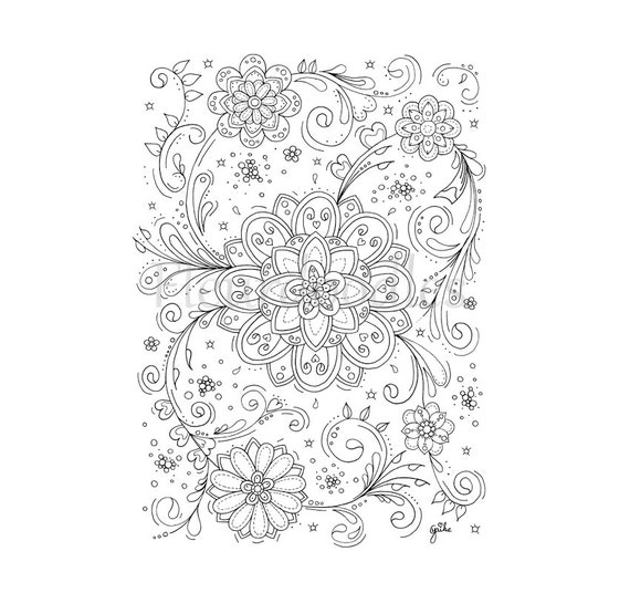 swirls coloring page