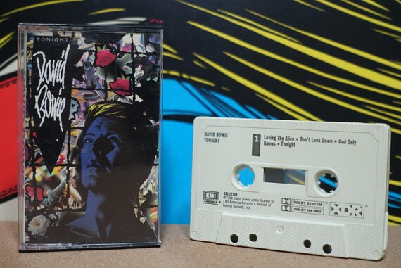 Tonight by David Bowie Vintage Cassette Tape