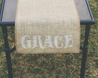 Burlap Table Runner, Table Runner, Grace Table Runner * Free Shipping*