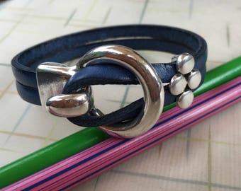 Leather bracelet | Womens leather bracelet | Leather wrap bracelet | Colored leather | Cuff bracelet |  Boho jewelry | Stackable bracelet