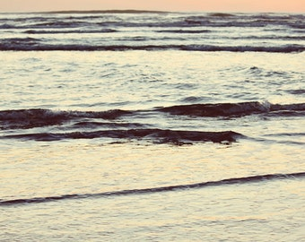 Yachats Oregon Pacific Ocean Beach Scene Landscape photography Sunset Blue Pink