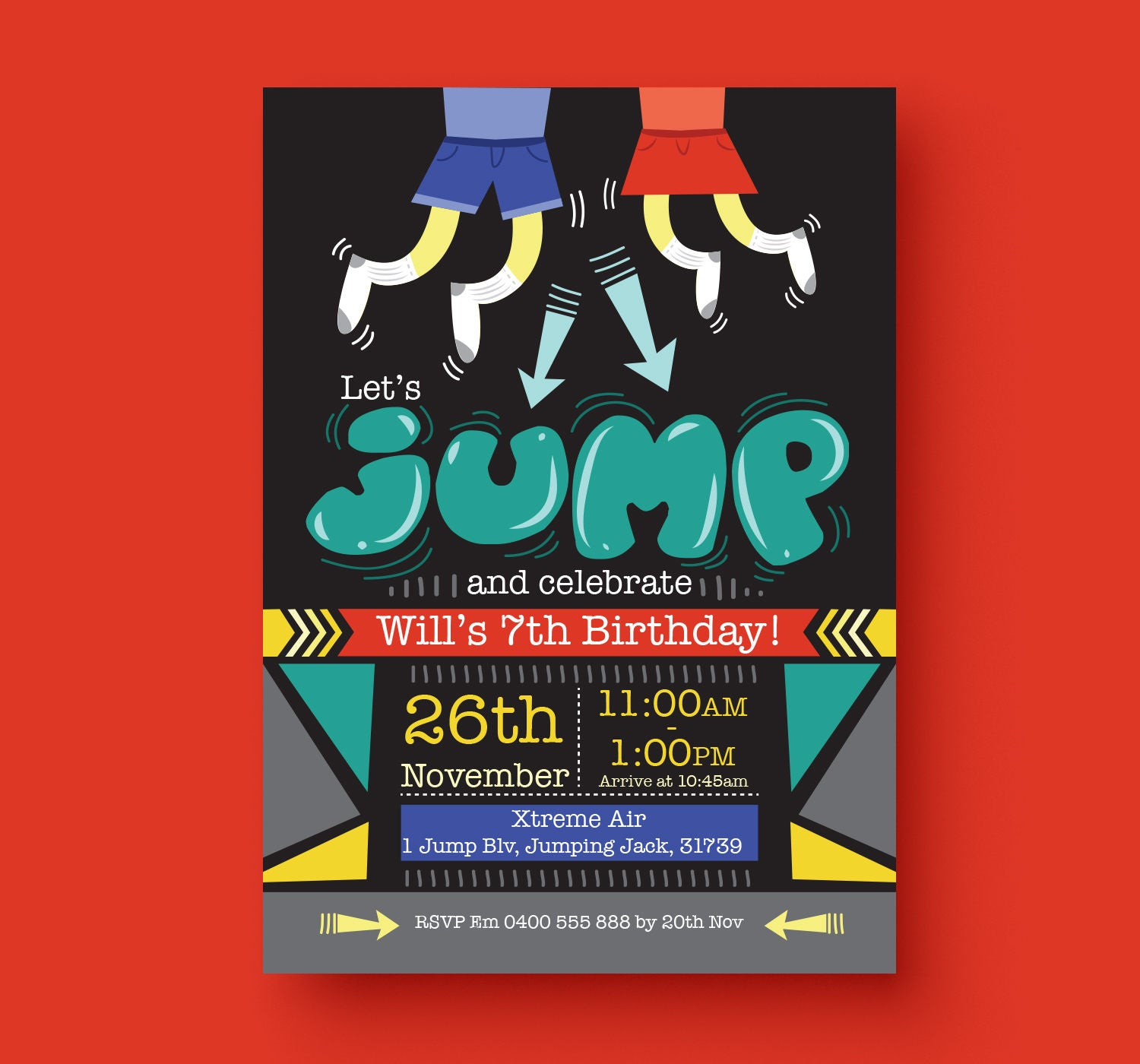 Luxury Jump Party Invitations Photo - Invitations and Announcements ...