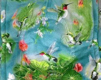 Microwave Bowl Cozy, Soup Bowl Cozy, Soup Bowl Hot Pads, Soup Bowl Holder   ~ HUMMINGBIRDS in FLIGHT  **2 Sizes Available