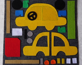 Quiet Book Pattern: Gas Station / Quiet Book Guide / DIY / Felt Quiet Book For Kids / On the Go / Busy Book Pattern / Quiet Book Tutorial /