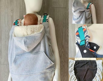 Babywearing Cover - Baby carrier cover, SSC cover, Cover for babywearing, Babywearing jacket, babywearing coat, babywearing hoodie