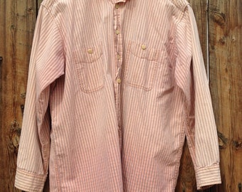 Vintage 1980's-90's Ranch Work Weathered Soft Shirt Faded Soft and Friendly Men's L or XL