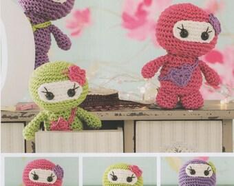 DMC (15324L/2) Little Lady Ninja's Amigurumi Crochet Pattern - designed bySarah-Jane Hicks
