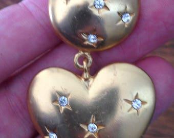 bold heart dangle earrings