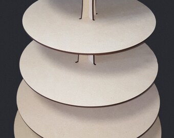 5 tier Round Cupcake Stand MDF Craft shapes, wedding, birthdays, special ocaision