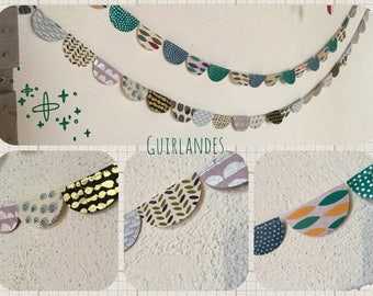 Handcrafted plant paper Garland