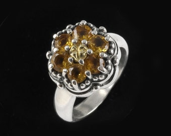 Cluster Ring,  Wildflower  Collection    8501SGC