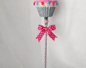 Pink Cupcake Wand