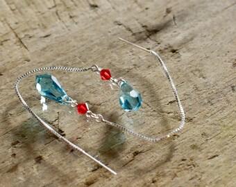 925 Silver chain and Swarovski pearls