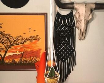 Vintage Macrame Globe Hangers / Plant Holders
