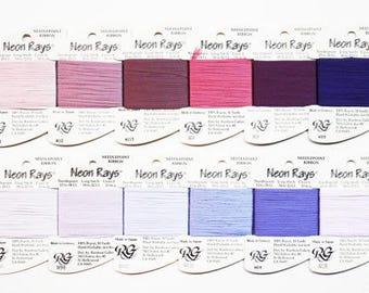 Neon Rays 3.70 Each, Rainbow Gallery Neon Rays, Neon Rays Ribbon Thread, Needlework Ribbon Fibers, Neon Rays Ribbon Yarn, Needlepoint Fibers