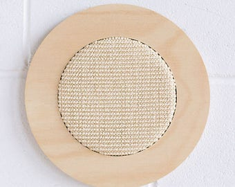 Wall mounted cat scratcher - modern scratching post - scratch pad - natural