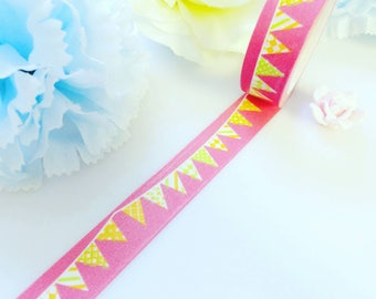 Watermelon Red Bunting Washi Tape Pink Flags Deco Masking Tape