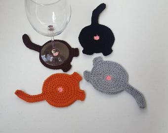 Cat Butt Coasters - made to order