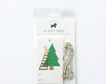 Bunny Christmas Gift Tags